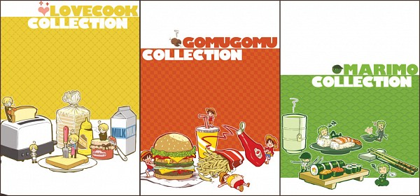 Tags: Anime, Ramga, ONE PIECE, Sanji, Monkey D. Luffy, Roronoa Zoro, French Fries, Sushi, Milk Carton, Ketchup, Pixiv, Facebook Cover, One Piece: Two Years Later