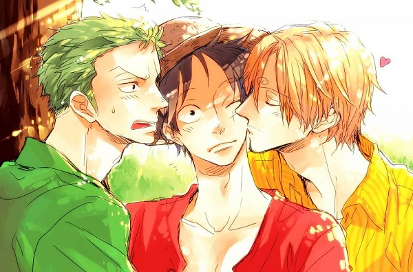 Tags: Anime, ONE PIECE, Monkey D. Luffy, Roronoa Zoro, Sanji, Pixiv, Fanart, One Piece: Two Years Later, Monster Trio, The Eleven Supernovas, Straw Hat Pirates