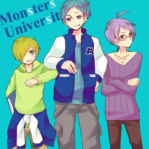 Tags: Anime, Koma (Pixiv 4323), Monsters University, Monsters Inc., Randall Boggs, Michael