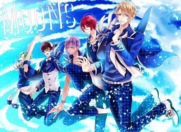 Tags: Anime, Pixiv Id 13167219, B-Project, Nome Tatsuhiro, Sekimura Mikado, Masunaga Kazuna, Onzai Momotaro, Osari Hikaru, Checkered Pants, Fanart From Pixiv, PNG Conversion, Pixiv, Fanart