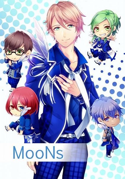 Tags: Anime, Pixiv Id 738073, B-Project, Osari Hikaru, Nome Tatsuhiro, Sekimura Mikado, Masunaga Kazuna, Onzai Momotaro, Text: Character Group Name, Fanart From Pixiv, Pixiv, Fanart, MooNs