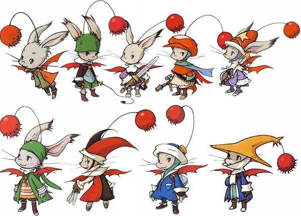 Tags: Anime, Final Fantasy Tactics Advance, Gadgeteer (Moogle), Black Mage (Moogle), Mog Knight, Gunner (Moogle), Fusilier (Moogle), Animist (Moogle), Thief (Moogle), Juggler (Moogle), Moogle, Time Mage (Moogle), Official Art