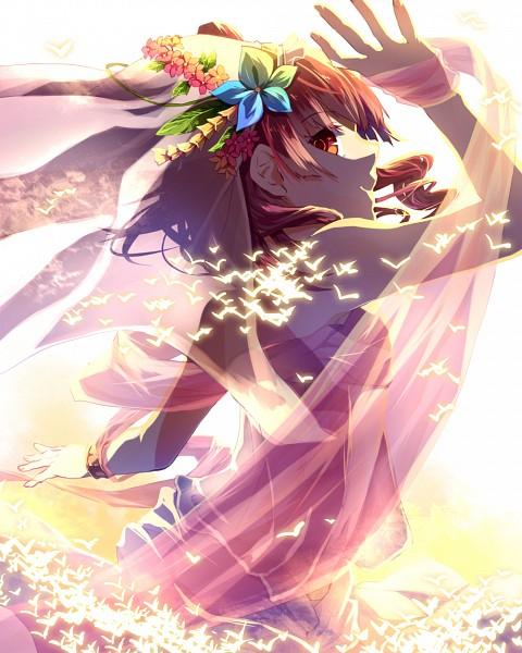 Tags: Anime, Yamabukky, MAGI: The Labyrinth of Magic, Morgiana, Arabian Dancer, Dancer, Rukh, Fanart From Pixiv, Fanart, PNG Conversion, Pixiv