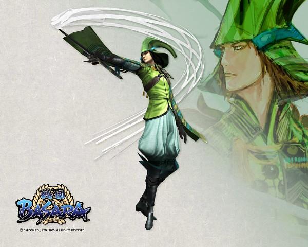 Tags: Anime, Capcom, Sengoku Basara, Mori Motonari (Sengoku Basara), 3D, Official Wallpaper, Wallpaper, Official Art