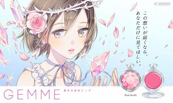 Tags: Anime, Morikura En, Crown Of Thorns, Wallpaper, PNG Conversion, Original