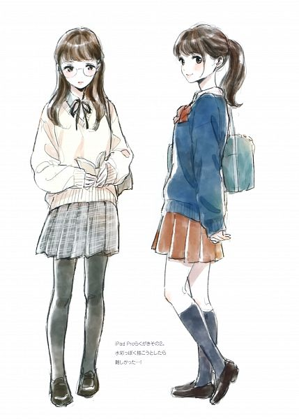 Tags: Anime, Morikura En, Rough Sketch Girls, Scan