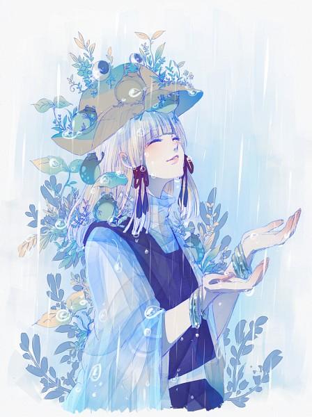 Tags: Anime, Fleur-de-lis, Touhou, Moriya Suwako, Frog Hat, Fanart From Pixiv, Fanart, Pixiv, Suwako Moriya