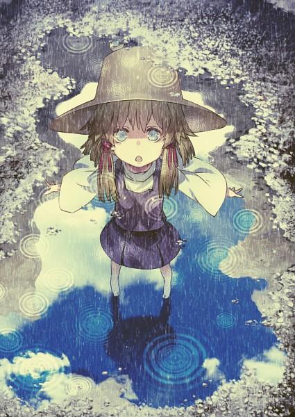 Tags: Anime, Benitama, Touhou, Moriya Suwako, Puddle, Purple Vest, Fanart From Pixiv, Fanart, Mobile Wallpaper, Pixiv, Suwako Moriya