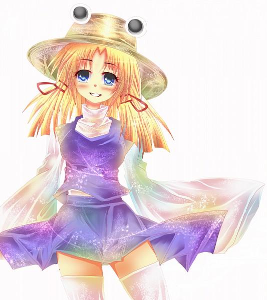 Tags: Anime, Touhou, Moriya Suwako, Frog Hat, Pixiv, Suwako Moriya