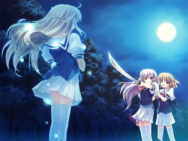 Tags: Anime, Kusukusu (Artist), Palette (Studio), Moshimo Ashita ga Hare Naraba, Nonosaki Tsubasa, Nonosaki Akiho, Transparent Body, CG Art