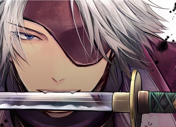 Tags: Anime, Pixiv Id 1588756, Sengoku Basara, Motochika Chosokabe (Sengoku Basara), Weapon In Mouth, Fanart, Fanart From Pixiv, Pixiv