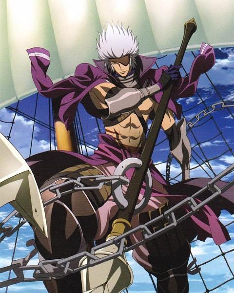 Tags: Anime, Sengoku Basara, Motochika Chosokabe (Sengoku Basara), Anchor, Scan, Official Art