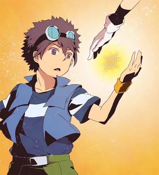 Tags: Anime, Pixiv Id 625061, Digimon Adventure, Yagami Taichi, Motomiya Daisuke, Fanart, Pixiv