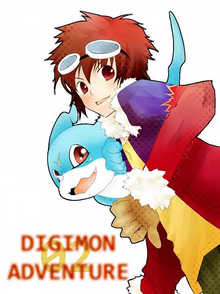 Tags: Anime, Pixiv Id 1583929, Digimon Adventure, Motomiya Daisuke, Veemon