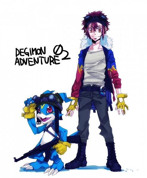 Tags: Anime, Pixiv Id 442659, Digimon Adventure, Veemon, Motomiya Daisuke