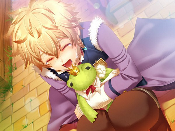 Tags: Anime, IDEA FACTORY, Frog Prince, Moujuutsukai to Oujisama, Erik, Stuffed Frog, CG Art, Beast Master And Prince