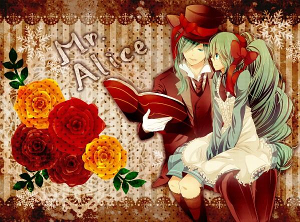 Tags: Anime, Aizawa Riku, VOCALOID, Hatsune Mikuo, Hatsune Miku, Mr. Alice, Fanart, Pixiv, Fanart From Pixiv