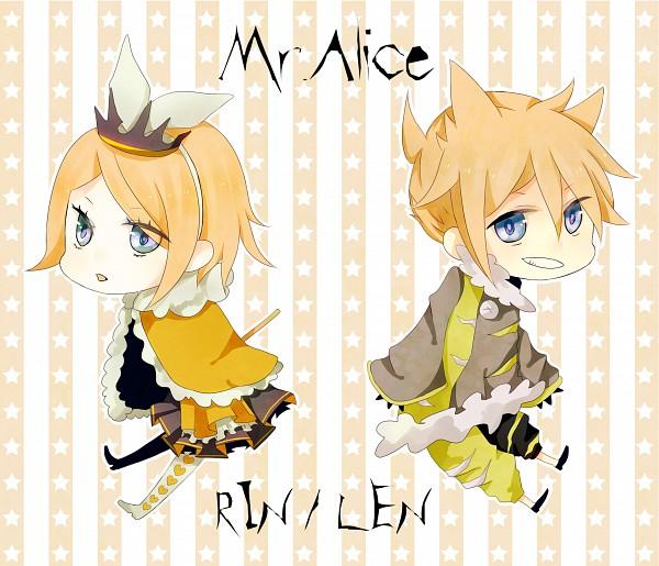 Tags: Anime, VOCALOID, Kagamine Len, Kagamine Rin, Mr. Alice, Kagamine Mirrors