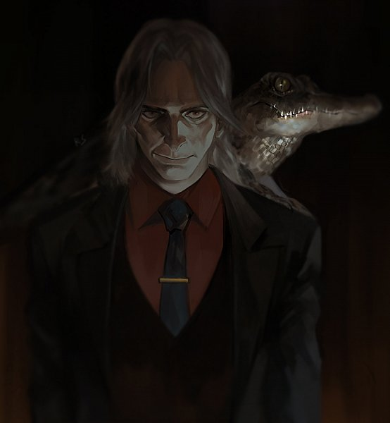 Tags: Anime, Pixiv Id 5952133, Once Upon A Time, Mr. Gold/Rumplestiltskin, Reptile, Tie Clip, Crocodile (Animal), Fanart, Fanart From Pixiv, Pixiv
