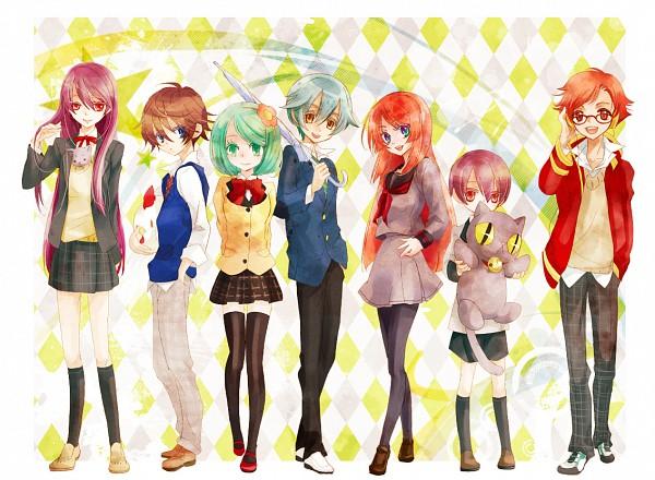 Tags: Anime, Cat0178, UTAU, Katapa Ruto, Yuuga Yuragi, Tsuine Owata, Nanashi Fumi, Shigure Nao, Namine Ritsu, Mr.Music, Pixiv, Fanart