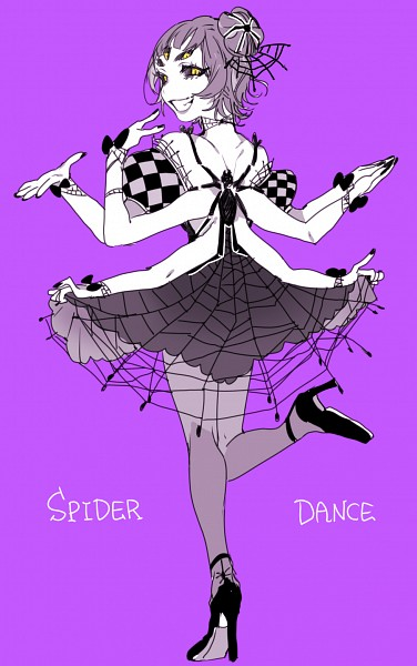Tags: Anime, Piyo (ppotatto), Undertale, Muffet, Spider, Spider Person, Extra Arms, Fanart, Mobile Wallpaper, Tumblr, PNG Conversion