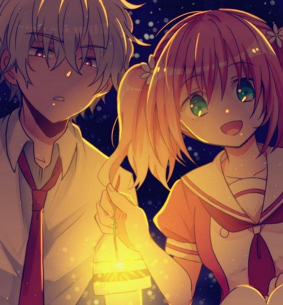 Tags: Anime, Pixiv Id 4257060, Munou na Nana, Onodera Kyouya, Hiiragi Nana, Talentless Nana