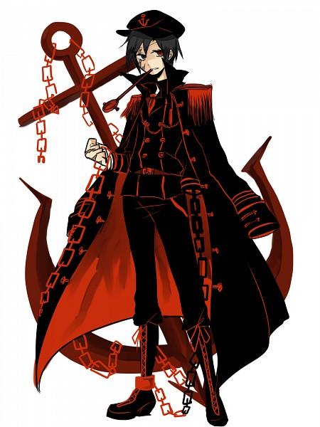 Tags: Anime, Anchor, Shaded Face, Fanart From Pixiv, The Imperial Gensokyo Army, Minamitsu Murasa