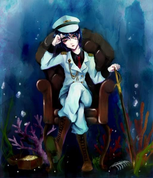 Tags: Anime, Nombre noir, Touhou, Murasa Minamitsu, Treasure Chest, The Imperial Gensokyo Army, Minamitsu Murasa