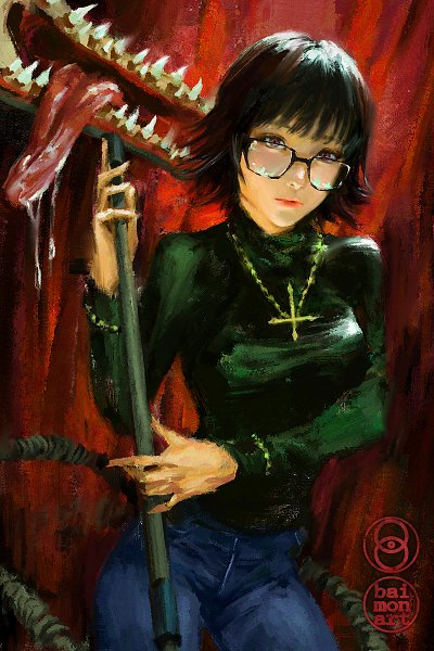 Tags: Anime, baimonart, Hunter x Hunter, Murasaki Shizuku, deviantART, Wallpaper, Fanart, Fanart From DeviantART