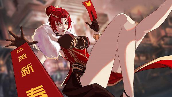 Tags: Anime, Pixiv Id 41735746, Houkai 3rd, Murata Himeko, Lunar New Year