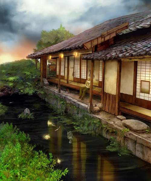 Tags: Anime, Pixiv Id 210312, Mushishi, Ginko (Mushishi), Peaceful, Fanart, Pixiv