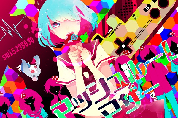 Tags: Anime, Saine, VOCALOID, Hatsune Miku, Aimaina, Doushite-chan, Mushroom Mother