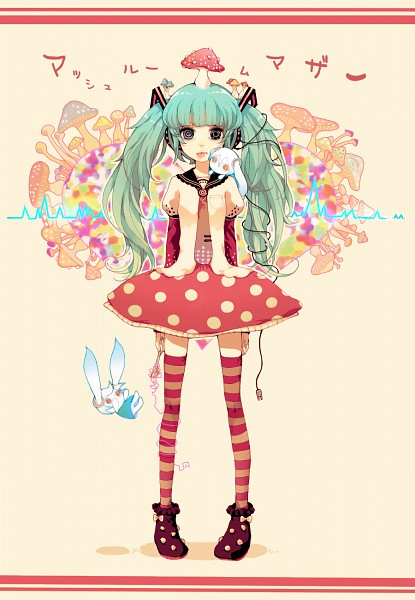 Tags: Anime, Souno Kazuki, VOCALOID, Hatsune Miku, Aimaina, Soundwave, Detailed, Plug, Mobile Wallpaper, Fanart, Mushroom Mother, Pixiv
