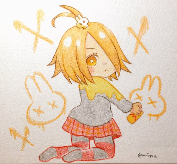 Tags: Anime, Eminu, Cookie Run: OvenBreak, Cookie Run, Mustard Cookie, Spray Can, Pixiv, Fanart, Fanart From Pixiv, Traditional Media