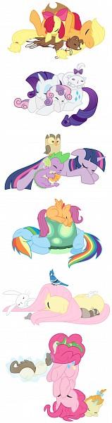 Tags: Anime, Kumkrum, My Little Pony, Rarity, Rainbow Dash, Sweetie Belle, Scootaloo, Pinkie Pie, Spike, Applejack, Apple Bloom, Fluttershy, Twilight Sparkle