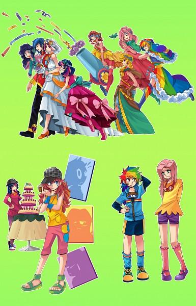 Tags: Anime, Sapphire1010, My Little Pony, Applejack, Fluttershy, Twilight Sparkle, Rarity, Rainbow Dash, Shining Armor, Pinkie Pie, Princess Mi Amore Cadance, Mobile Wallpaper, deviantART