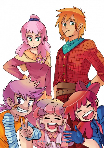 Tags: Anime, Sapphire1010, My Little Pony, Cheerilee Pie, Big Macintosh, Scootaloo, Sweetie Belle, Apple Bloom, Fanart, Mobile Wallpaper, Cutie Mark Crusader