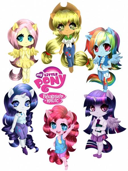 Tags: Anime, Sweetgirlbia, My Little Pony, Rainbow Dash, Pinkie Pie, Applejack, Fluttershy, Twilight Sparkle, Rarity, deviantART