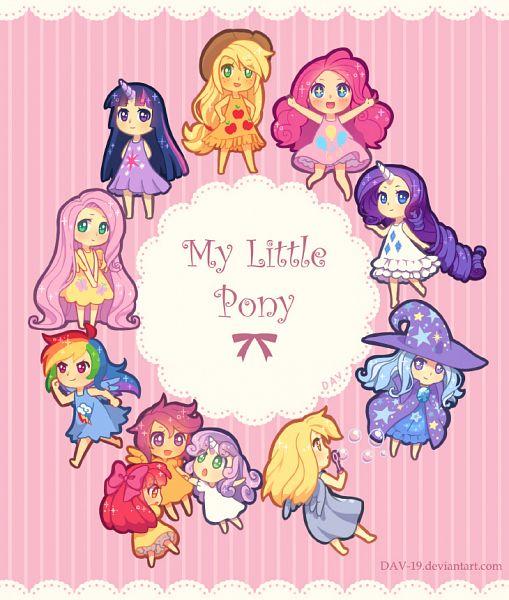 Tags: Anime, DAV-19, My Little Pony, Twilight Sparkle, Rarity, Scootaloo, Rainbow Dash, Sweetie Belle, Derpy Hooves, Pinkie Pie, Apple Bloom, Trixie Lulamoon, Applejack