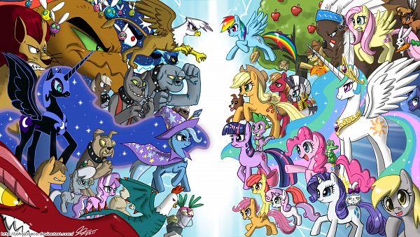 Tags: Anime, John Joseco, My Little Pony, Spike, Apple Bloom, Applejack, Scootaloo, Angel (My Little Pony), Fluttershy, Big Macintosh, Zecora, Nightmare Moon, Princess Celestia