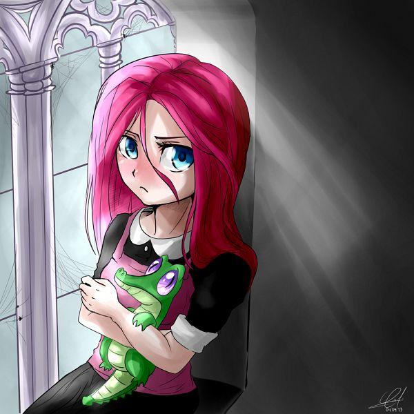 Tags: Anime, Zorbitas, My Little Pony, Pinkie Pie, Pinkamena Diane Pie, >:(, Crocodile (Animal), Spider, Pink Vest, deviantART, Fanart From DeviantART, Fanart