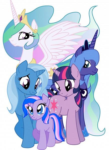 Tags: Anime, Inkwell-pony, My Little Pony, Trixie Lulamoon, Fan Character, Rarity, Twilight Sparkle, Princess Luna, Princess Celestia, Alicorn, Cutie Mark, Fanart, Fanart From DeviantART