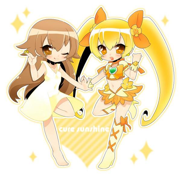 Tags: Anime, Inuue Kiyu, Heartcatch Precure!, Myoudouin Itsuki, Cure Sunshine, Pixiv, Fanart, Fanart From Pixiv
