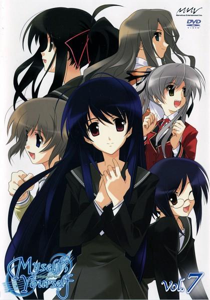 Tags: Anime, Myself; Yourself, Oribe Aoi, Fujimura Yuzuki, Hoshino Asami, Mochida Hinako, Yatsushiro Nanaka, Wakatsuki Shuuri, Scan, DVD (Source), Official Art
