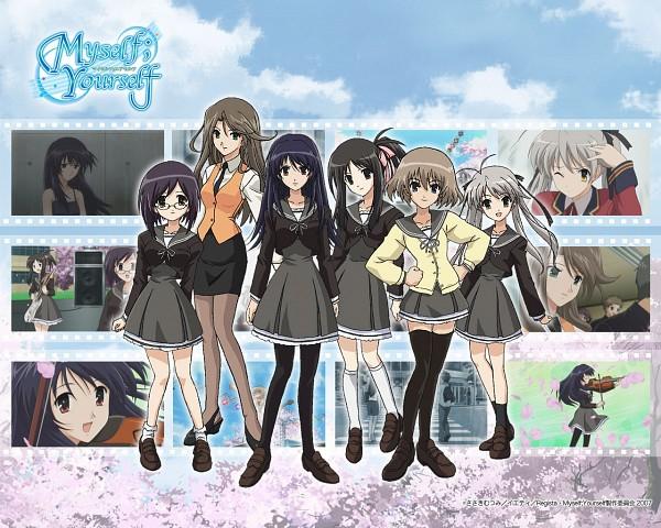 Tags: Anime, Myself; Yourself, Hoshino Asami, Yatsushiro Nanaka, Wakatsuki Shuuri, Oribe Aoi, Fujimura Yuzuki, Mochida Hinako
