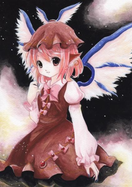 Tags: Anime, Cana, Touhou, Mystia Lorelei, Traditional Media, Pixiv, Watercolor
