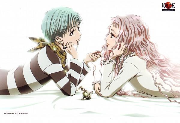 Tags: Anime, NANA (Series), Serizawa Reira, Okazaki Shinichi, Scan, Official Art