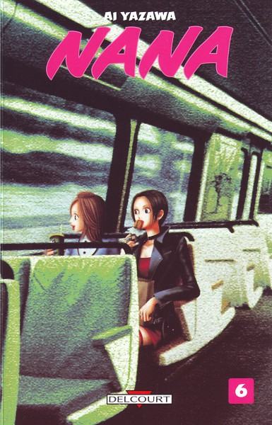 Tags: Anime, Yazawa Ai, NANA (Series), Osaki Nana, Komatsu Nana, Train Interior, Manga Cover, Official Art, Scan