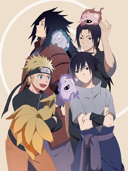 Tags: Anime, Tosyoen, NARUTO: SHIPPŪDEN, NARUTO, Kyuubi (NARUTO), Uzumaki Naruto, Uchiha Madara, Uchiha Itachi, Uchiha Sasuke, Susano'o (NARUTO), Fanart, Fanart From Pixiv, Pixiv