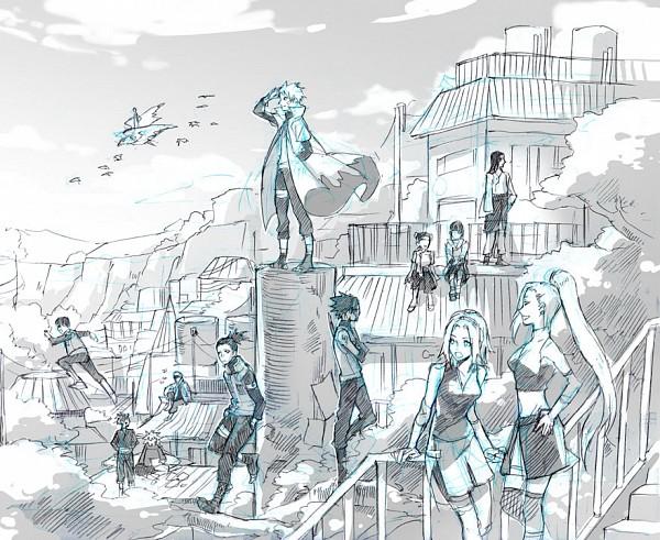 Tags: Anime, 00111 (Artist), NARUTO, NARUTO: SHIPPŪDEN, Inuzuka Kiba, Rock Lee, Akimichi Chouji, Hyuuga Neji, Sai, Yamanaka Ino, Uchiha Sasuke, Aburame Shino, Nara Shikamaru
